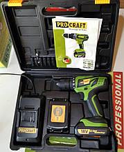 Шуруповерт ProCraft PA18 Pro(+ бита PH2)