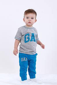 Комплект літній футболка+бриджі з принтом GAP для хлопчика кулір