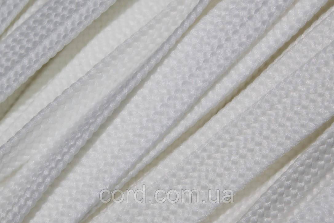 Шнур плоский тесьма 12мм (100м) белый