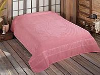 Махрове простирадло Luisa Rose 200-220 см бавовна рожевий, фото 1