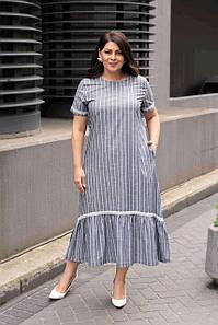 Жіноча літня сукня великих розмірів Cocoon 20424