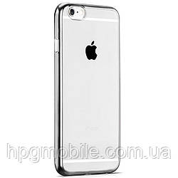 Чехол для iPhone 6 Plus, iPhone 6S Plus - Hoco Black Series Glint Plating TPU Серебристый