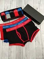 Набор мужских трусов боксеров 3 шт Calvin Klein 365 модель в подарочной коробке трусы кельвин кляйн