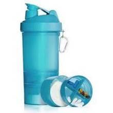 Muscle Shake - 400ml +180ml +120ml Neon Blue SmartShake