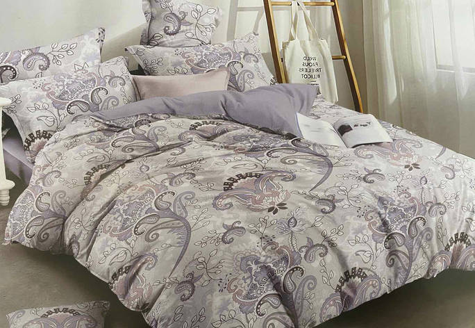 Полуторный комплект постельного белья 150*220 сатин (14650) TM КРИСПОЛ Украина, фото 2