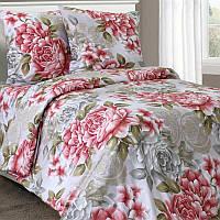 Полуторное постельное белье бязь гост прованс розы ТМ Блакит  хлопок 120 г/м. кв.
