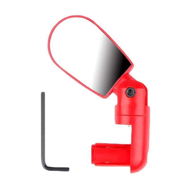 Зеркало велосипедное в руль. зеркало заднего вида в трубу руля, регулируемое 360 (красное)