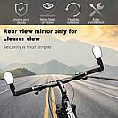 Зеркало велосипедное в руль. зеркало заднего вида в трубу руля, регулируемое 360 (красное), фото 10