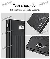 ROCK power Bank 10000 мАч портативное зарядное устройство 10000 мАч USB PoverBank Внешнее зарядное устройство, фото 3