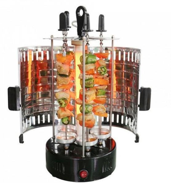 Домашняя электрошашлычница Domotec BBQ 1000W на 6 шампуров