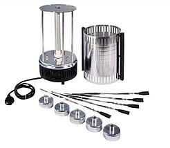 Домашняя электрошашлычница Domotec BBQ 1000W на 6 шампуров, фото 3