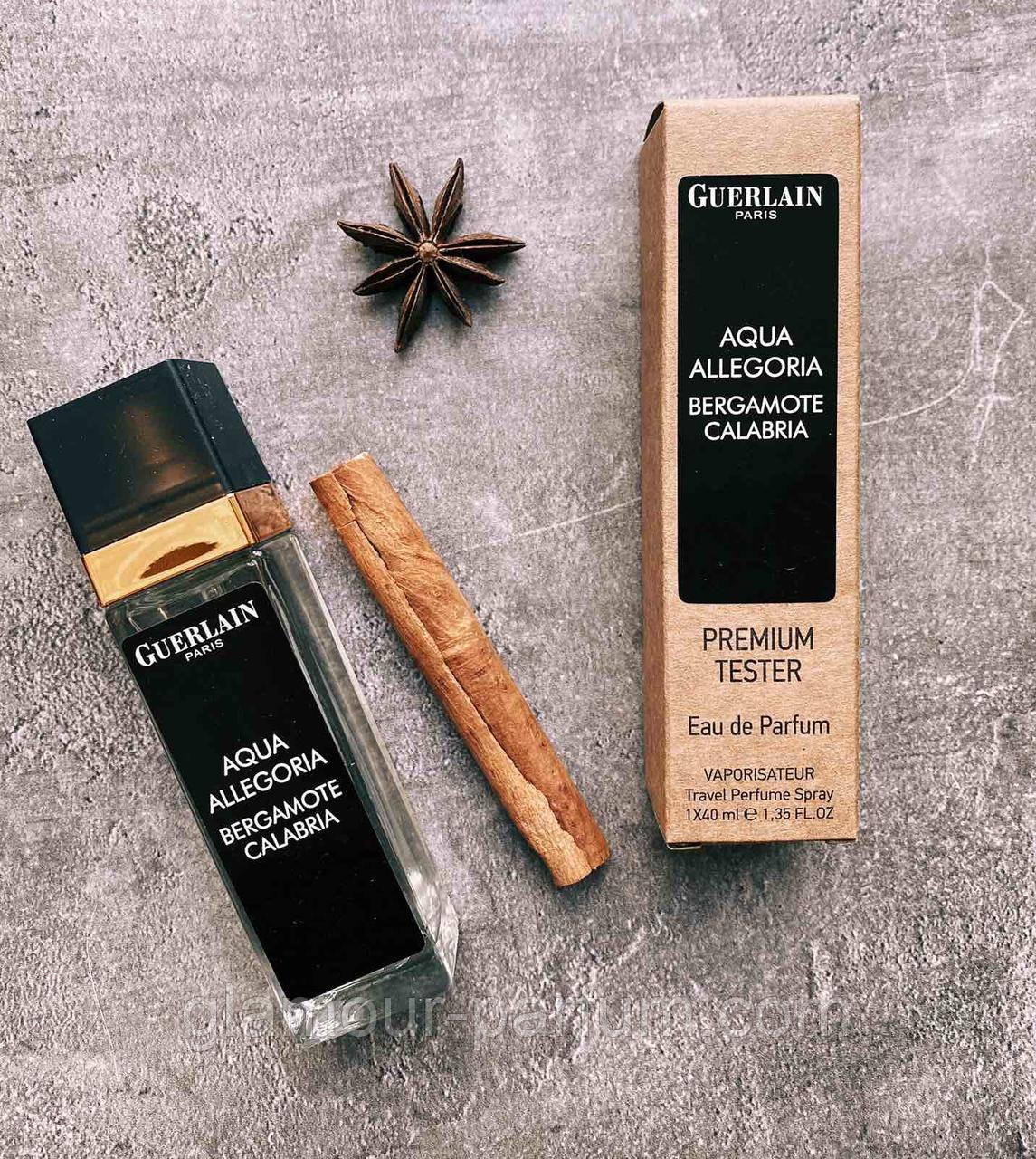 TESTER жіночий міні-парфуми Guerlain Aqua Allegoria Bergamote Calabria 40мл репліка ОПТ