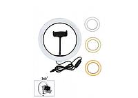 Кольцевая LED лампа для селфи с держателем 20 см. M-20 - без штатива