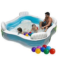 Детский надувной бассейн Intex 56475 (229х229 см), фото 1