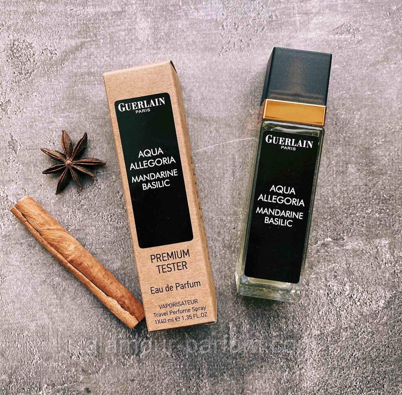 TESTER женский мини-парфюм Guerlain Aqua Allegoria Mandarine Basilic 40мл реплика ОПТ