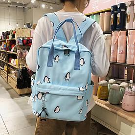 Сумка-рюкзак Пингвины