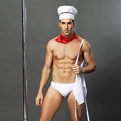 """Мужской эротический костюм повара """"Умелый Джек"""": слипы, фартук, платок и колпак"""
