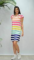 """Сукня жіноча в широку кольорову смужку ,(2цв.) розміри S-2XL """"GEREKLI"""" недорого від прямого постачальника"""