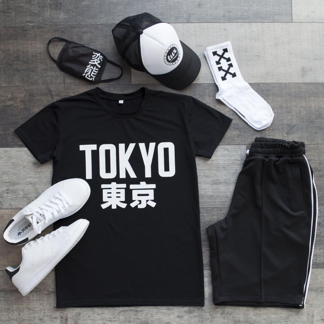 Летний комплект мужской Tokio  Футболка+шорты+кепка+маска+носки