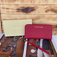 Женский кожаный кошелек клатч Michael Kors Майкл Корс реплика