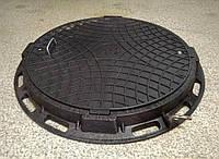 Люк канализационный садовый черный с замком