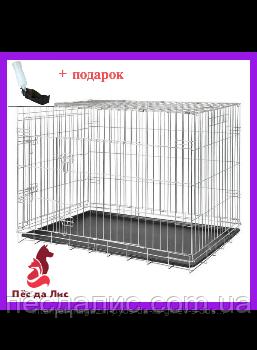 Trixie транспортна металева клітка для собак 64х54х48см