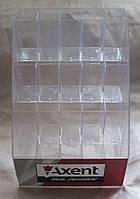 Подставка органайзер для канцтоваров под ручки горка-накопитель на 20 ячеек акрил (ШхВхГ) 195х245х195 №PR-110