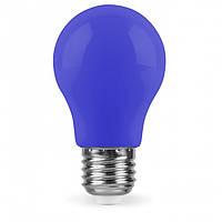Цветная светодиодная лампа Feron LB375 3W E27 для гирлянды синяя (зелёная, жёлтая, красная, белая)
