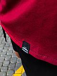 """Комплект футболка+шорти Pobedov """"Farbovanij lis"""" чорно-бордовий, фото 2"""