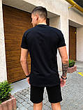 """Комплект футболка+шорти Pobedov """"Farbovanij lis"""" чорно-бордовий, фото 4"""