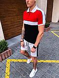"Комплект футболка Поло+шорты Pobedov ""Salyami"" Red-white-black, фото 3"