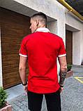 "Комплект футболка Поло +шорты    Pobedov ""Salyami"" красно-белый, фото 2"