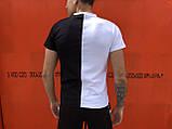 Комплект футболка +шорты  Pobedov Segmentation черно-белый вертикаль, фото 2