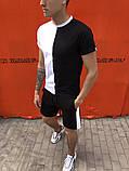 Комплект футболка +шорты  Pobedov Segmentation черно-белый вертикаль, фото 4
