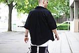 Комплект чоловічий сорочка/накидка+шорти VIDLIK (чорний), фото 2