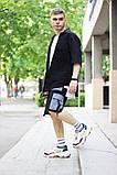 Комплект чоловічий сорочка/накидка+шорти VIDLIK (чорний), фото 4
