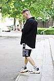 Комплект чоловічий сорочка/накидка+шорти VIDLIK (чорний), фото 5