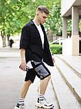 Комплект чоловічий сорочка/накидка+шорти VIDLIK (чорний), фото 6