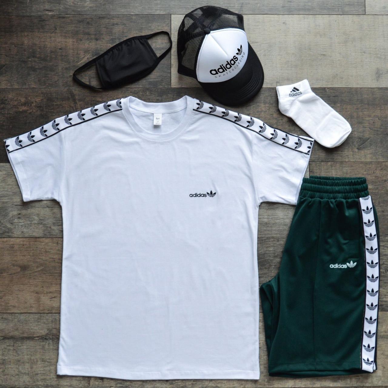 Літній спортивний костюм чоловічий (комплект речей) Adidas