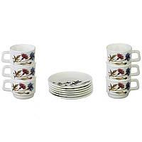Чайний сервіз склокерамічний A-PLUS 12 предметів на 6 персон, фото 1