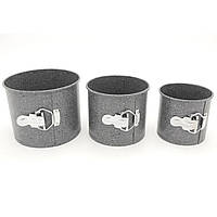 Формы для выпечки пасхи куличей разьемные A-PLUS 3 шт, фото 1