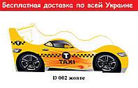 """Кровать машина """" Такси """" желтый"""