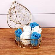 Мыло из роз в корзине  Подарок для девушки, мыло ручной работы, фото 3