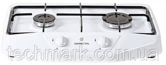 Настольная газовая плита GRETA 1103 белая  на 2 конфорки