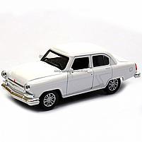 Машинка ігрова автопром «1:32-36 ГАЗ-21» метал, 14 см, білий, світло, звук, двері відкриваються (7504), фото 3