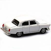 Машинка ігрова автопром «1:32-36 ГАЗ-21» метал, 14 см, білий, світло, звук, двері відкриваються (7504), фото 5