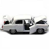 Машинка ігрова автопром «1:32-36 ГАЗ-21» метал, 14 см, білий, світло, звук, двері відкриваються (7504), фото 8