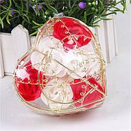 Мыло из роз в корзине  Подарок для девушки, мыло ручной работы, фото 4