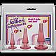Набор анальных пробок Doc Johnson Crystal Jellies - Pink, макс. диаметр 2см - 3см - 4см, фото 2