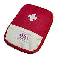 Карманная городская аптечка-органайзер для лекарств (13х18 см) Красная, дорожная, с доставкой (ST)